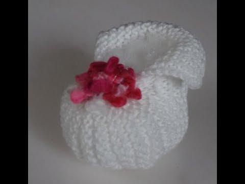 design de qualité 9f617 b32a3 chaussons bébé hyper facile à faire au tricot