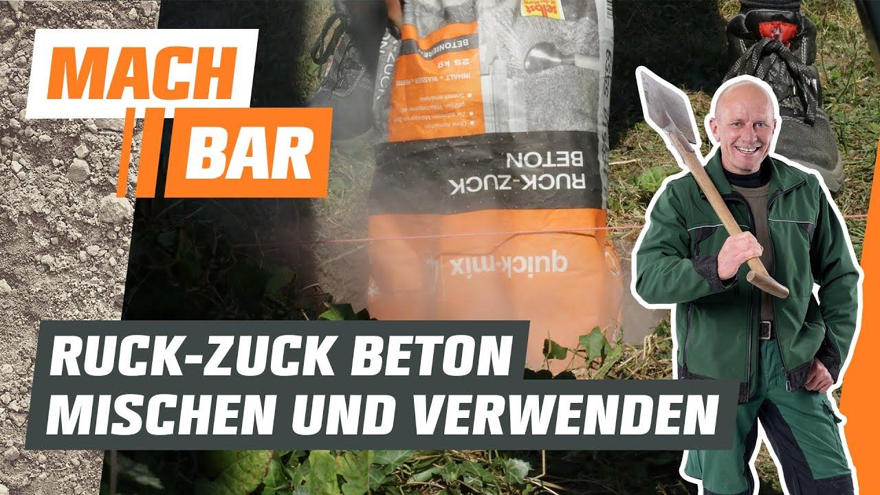 Ruckzuck Beton mischen und verwenden   OBI