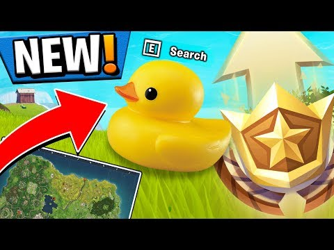 FORTNITE WEEK 3 CHALLENGES GUIDE! - RUBBER DUCKY LOCATIONS, TREASURE MAP! (Battle Pass Season 4)