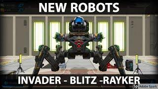 NEW ROBOTS - Invader, Blitz & Rayker Gameplay - War Robots Test Server