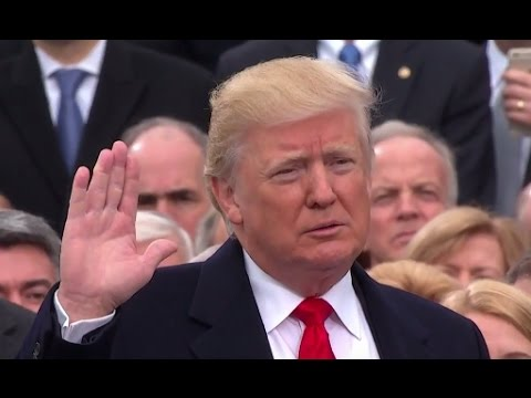 Image result for trump oath of office
