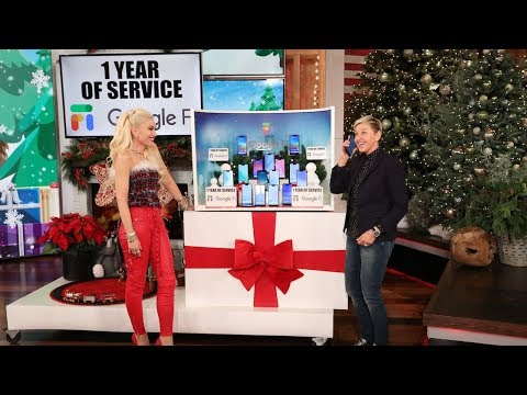 Gwen Stefani & Ellen Unveil Incredible Electronics for Day 7 of 12 Days!