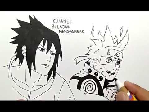 Cara Menggambar Naruto Bersatu Dengan Sasuke Dengan Mudah Dan Cepat