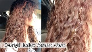 Heatless Voluminous Waves l Easy Overnight Beachy Waves
