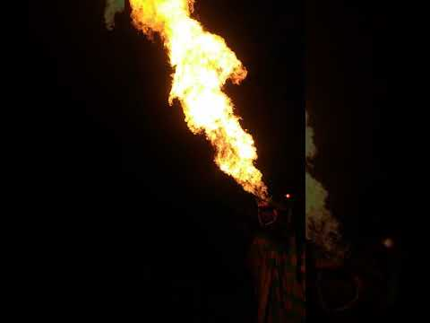 Dragon Breathing Fire at Winding Brook Farm