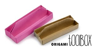Origami Long Tray Tutorial ♥︎ Toolbox ♥︎ Box ♥︎ DIY Desk Caddy ♥︎ Paper Kawaii