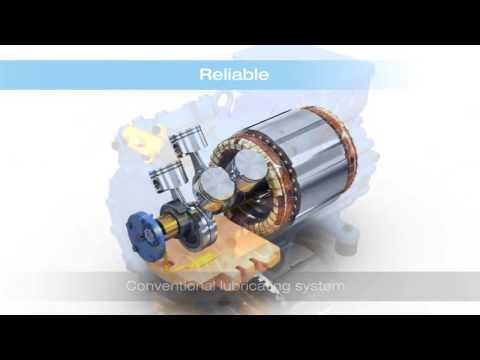 Как работает холодильный поршневой компрессор Bitzer, Frascold, Copeland, Bock HA/HG | 3D модель