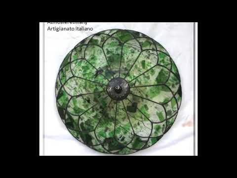 Plafoniere Tiffany : Lampade tiffany da parete plafoniere youtube