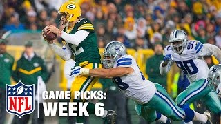 Game Picks in 60 Seconds (Week 6) | NFL NOW