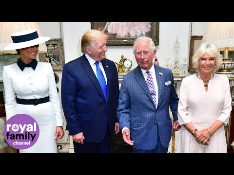 Prince Charles welcomes President Donald Trump for afternoon tea