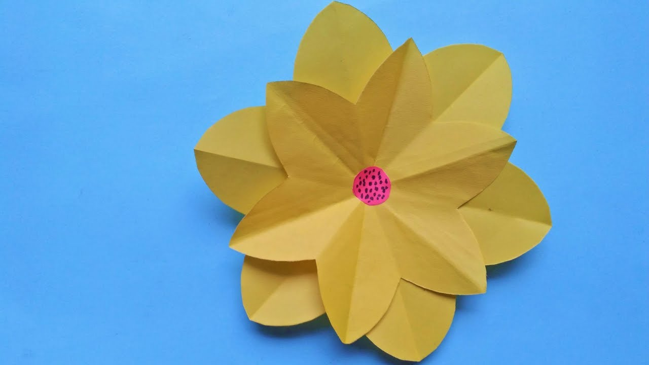 Diy unique paper flower how to make paper flower simple easy diy unique paper flower how to make paper flower simple easy origami flowers for beginners mightylinksfo