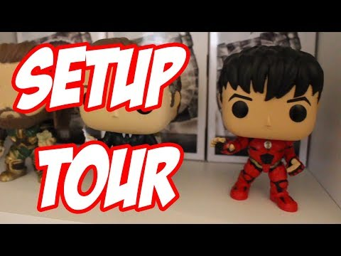 Pagey's Setup Tour! My Funko POP Vinyl, Comic Book and Blu-Ray Collection!