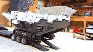 Mini JAW CRUSHER pulverizing Rocks for Road Roller Practice! | RC ADVENTURES