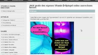 veraltet: (Vitamin-D-Online-Test von VitaminDelta.de) jetzt www.VitaminDservice.de