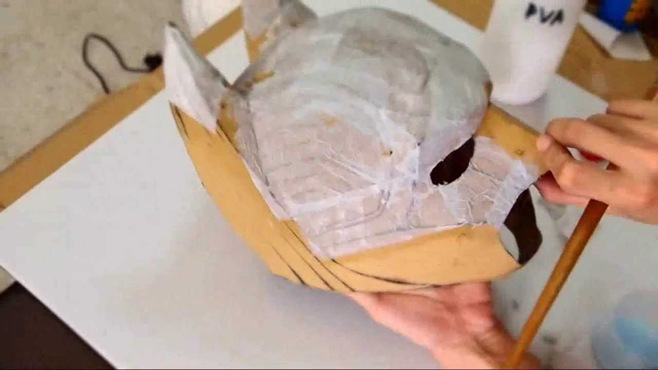 diy batman cowl part 2 cardboard body work how to youtube