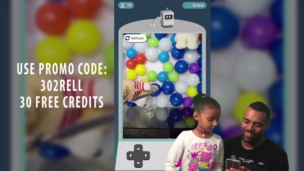 Teleclaw Remote Claw Machine App For iOS & Android - 30 FREE CREDITS CODE