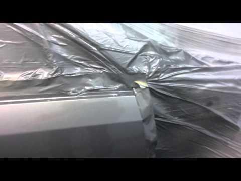 Кузовной ремонт на стапеле (вытяжка)Chevrolet Lacceti и покраска авто.,после лобового удара. смотреть в хорошем качестве