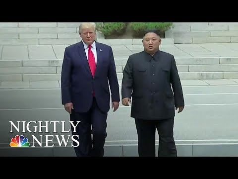 Trump Becomes First Sitting American President To Set Foot In North Korea | NBC Nightly News