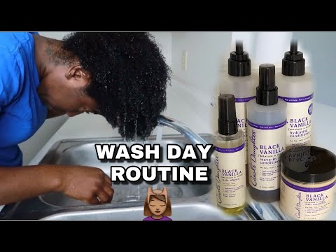 WASH DAY ROUTINE ON NATURAL HAIR ft. CAROLS DAUGHTER BLACK VANILLA LINE (Very detailed) Kurly Krissy thumbnail