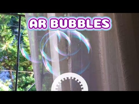 AR Bubble - Soap Bubble Blower Augmented Reality App for Kids