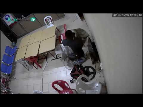 CCTV VIDEO: UGANDAN THIEF CAUGHT ON CAMERA AT MM PLAZA KAMPALA