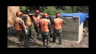 Simulacro de Rescate por la UHR del Ejército de Guatemala