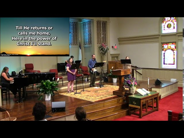August 9, 2020 Service at First Baptist Thomson [Trimmed]