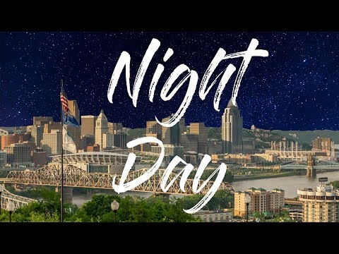 Day to Night Timelapse of Downtown Skyline | Cincinnati, Ohi