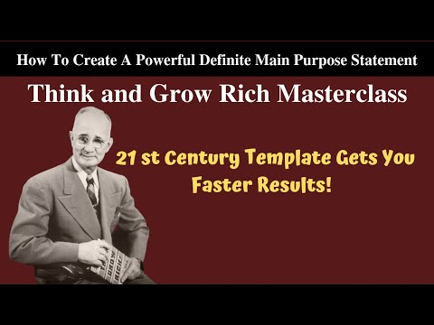 Creating a Powerful Definite Main Purpose Statement Webinar