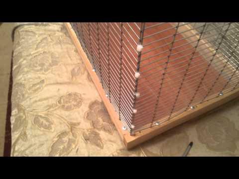 Как сделать клетку самому для попугая