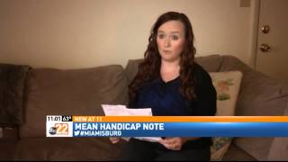 Handicapped Woman Fights Back After Rude Note