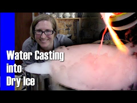 Pouring Molten Silver into Dry Ice || Art Vlog Untitled
