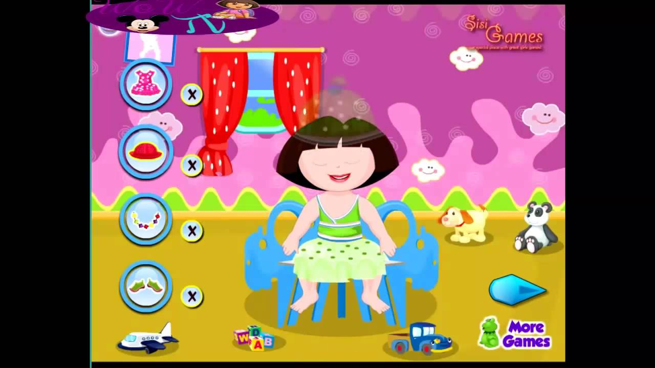 play free online dora games dora baby bathing babysitting games youtube. Black Bedroom Furniture Sets. Home Design Ideas