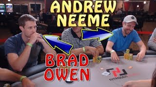 Poker Time: Andrew Neeme and Brad Owen play $5-10 Cash!