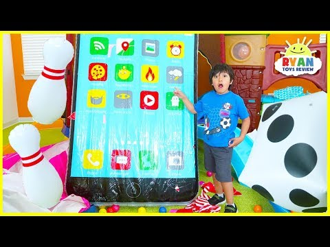 Giant Surprise Toys with Huge Ipad for Ryan!!!