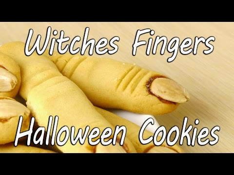 Witches Fingers Halloween Cookies