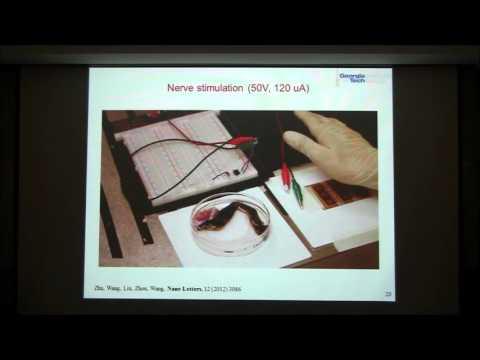 Tutorial video on piezoelectric nanogenerators by Prof. Zhong Lin Wang