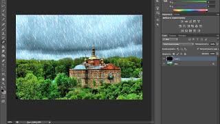 создать дождь эффект дождя фотошоп cs6