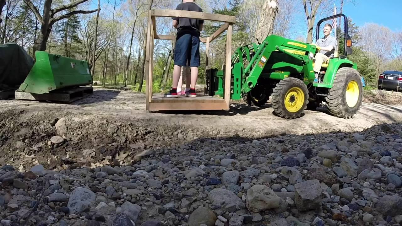 John Deere Tractor 3038e - Pallet Forks (Part 3 of 3)