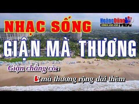 Karaoke Nhạc Sống | GIẬN MÀ THƯƠNG | Beat chất lượng cao