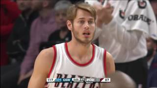 Rookie Jake Layman of the Portland Trail Blazers debut game