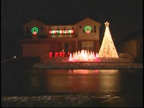 HQ Christmas Lights On a House with Music  Trans Siberian Orchestra  Wizards In Winter