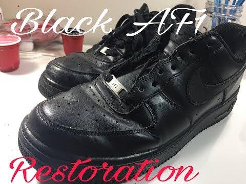 Black AF1 Restoration