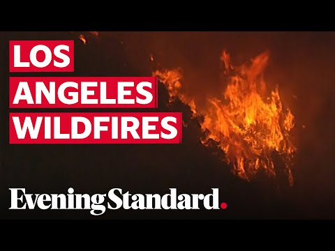 California Wildfire Forces Evacuations In Los Angeles County