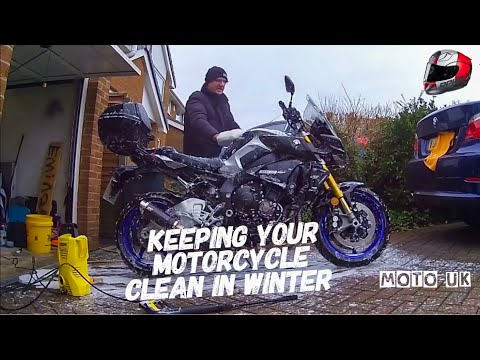 How to Winter Clean your Motorcycle and products used.