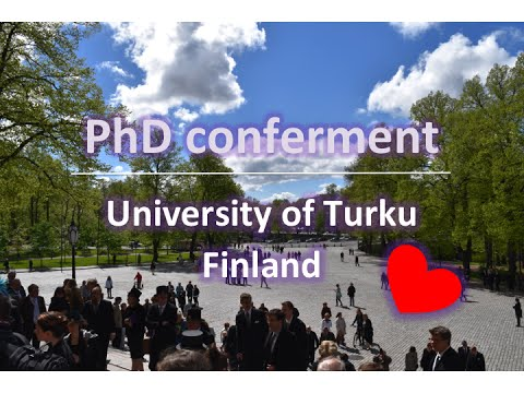 PhD conferment ◆ University of Turku ◆ Finland ◆ PhD Life 2015