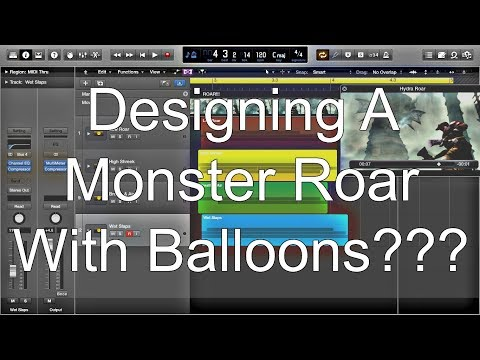 Designing A Monster Roar With Balloons???