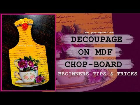 decoupage for beginners- decoupage on wooden chop board -diy, ♥handmade gifts and decor