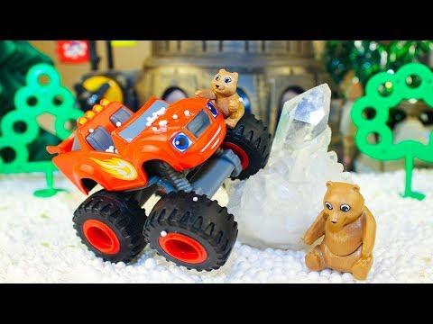 Мультики про машинки Вспыш и чудо машинки Спасают медвежонка Новые мультфильмы Видео для детей