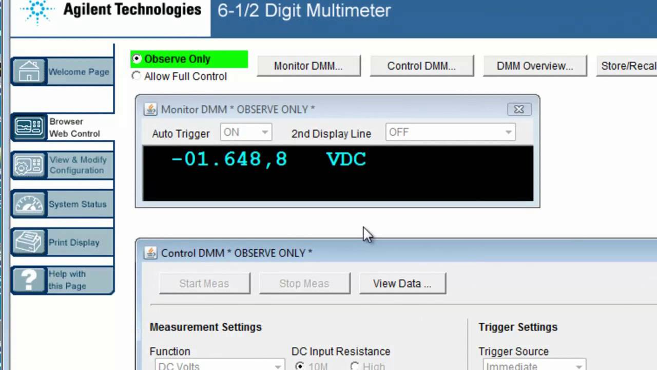 34410a Digital Multimeter Transferring Readings To A Pc Using The How Use Dmm Radioelectronicscom Web Interface